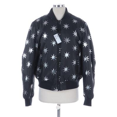 Love Moschino Metallic Starburst Puffer Jacket