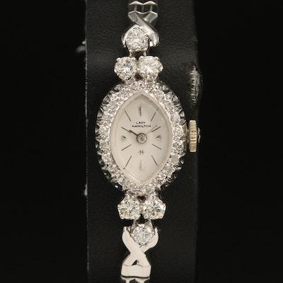 14K Lady Hamilton 1.04 CTW Diamond Wristwatch