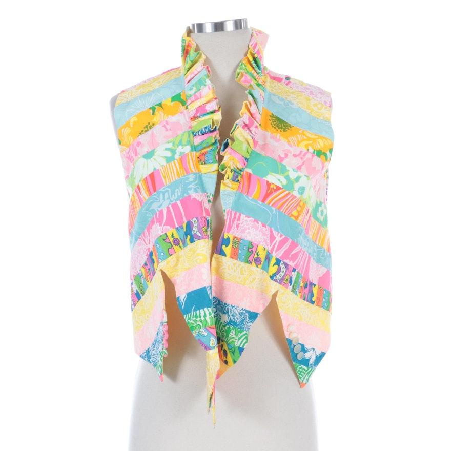 Reversible Floral Mixed Pattern Vest