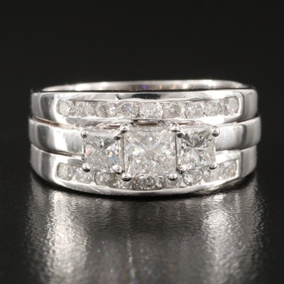 14K and 10K 1.44 CTW Diamond Ring