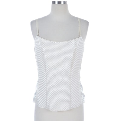 Susan Lucci Quilted Satin Bustier Style Top