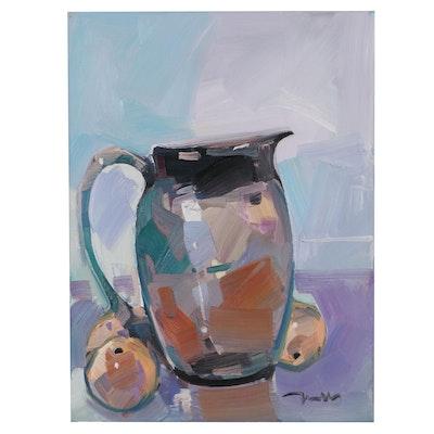 "Jose Trujillo Still Life Oil Painting ""The Pitcher,"" 2021"
