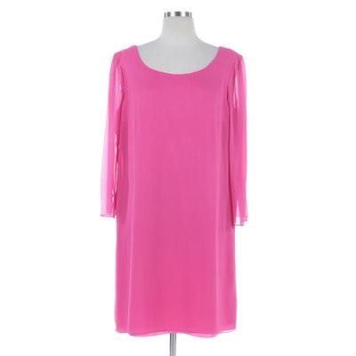 Kay Unger Evening Pink Silk Shift Dress