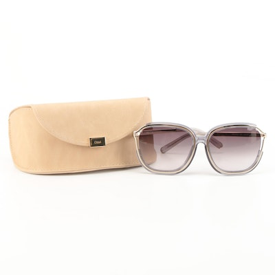 Chloé CE694SA Rounded Square Sunglasses with Case