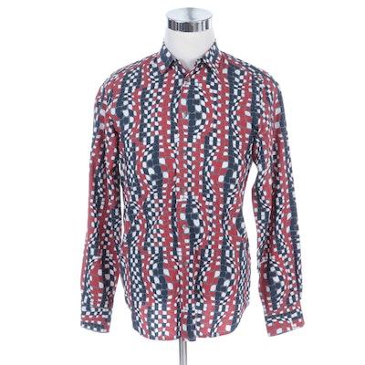 Men's Miu Miu Abstract Dotted Button-Up Shirt