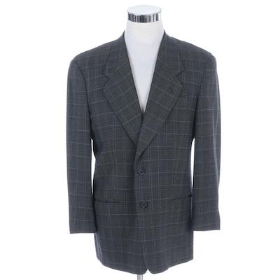 Men's Giorgio Armani Le Collezioni Wool Plaid Suit Jacket