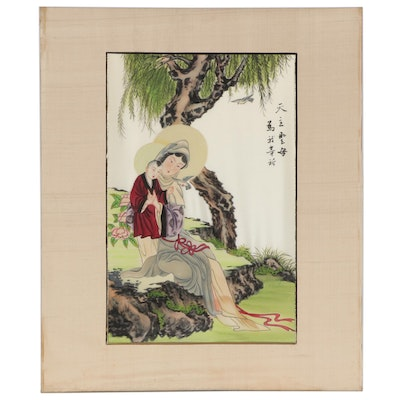 East Asian Gouache Painting of Figures