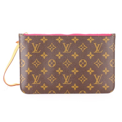 Louis Vuitton Neverfull Pochette in Monogram Canvas and Leather