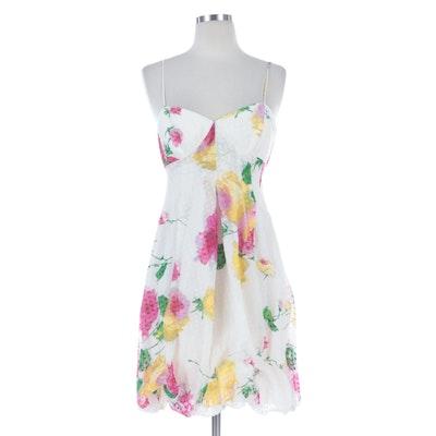 Armani Collezioni Floral Print Bubble Dress