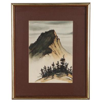 Jeanine Sudinski Mountain Landscape Watercolor Painting