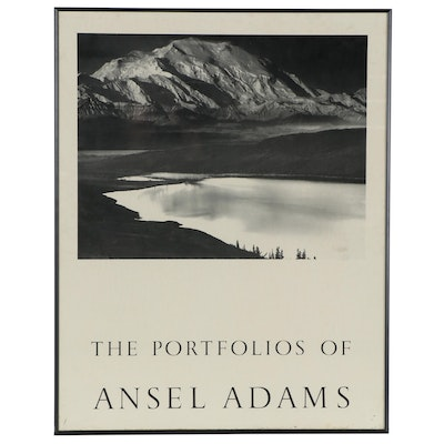 """Offset Lithograph Poster """"The Portfolios of Ansel Adams"""""""