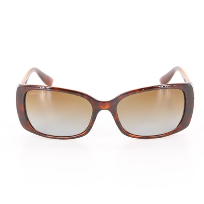 BVLGARI 8099-B Crystal Polarized Sunglasses