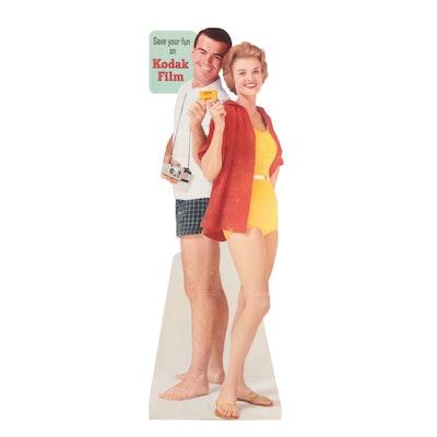 Kodak Film Lifesize Cardboard Cutout Standup Advertisement, Mid-20th Century
