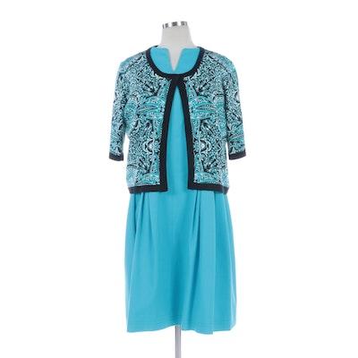 Christian Ruperto Alta Moda Pleated Dress and ETRO Patterned Silk Knit Sweater