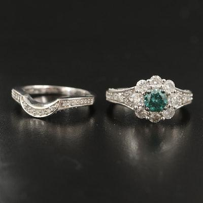 14K 2.79 CTW Diamond Ring and Enhancer