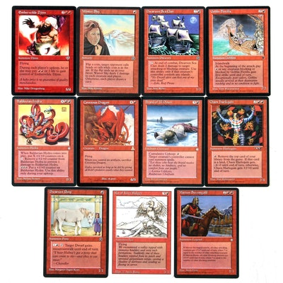 """""""Magic: The Gathering"""" Red Reserved List Cards Including """"Márton Stromgald"""""""
