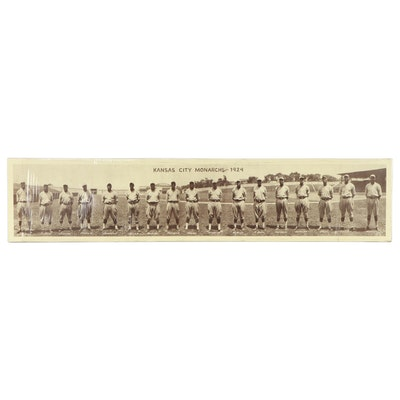 Halftone of Kansas City Monarchs Baseball Team