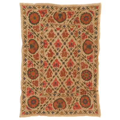 Handmade Central Asian Suzani Style Embroidered Wall Hanging