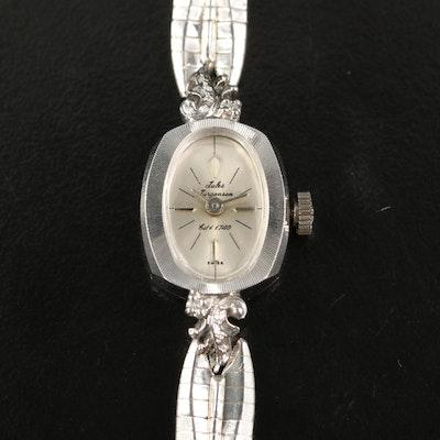 14K Jules Jurgensen Stem Wind Wristwatch