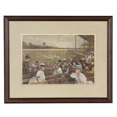 Offset Lithograph After W. P. Snyder Engraving of Baseball Game