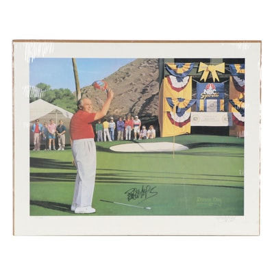 """Danny Day Offset Lithograph Aith Bob Hope Autograph """"The Classic Chip-In"""""""