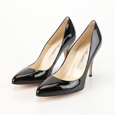Brian Atwood Pumps in Black  Patent Leather