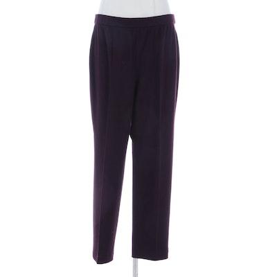 Lida Baday Pintuck Elastic Waist Trousers in Wool