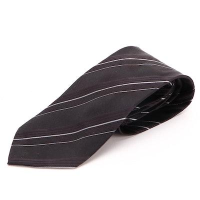 Men's Giorgio Armani Necktie in Patterned Silk Twill