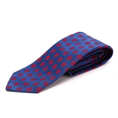 Men's Charvet Patterned Silk Twill Necktie
