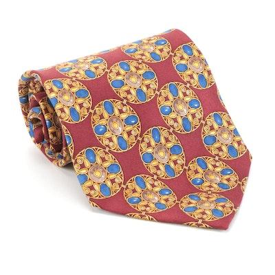 Men's Christian Dior Cravate Printed Silk Twill Necktie