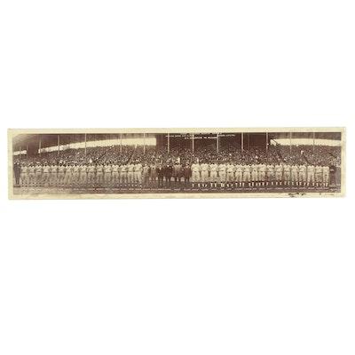 Halftone of Baseball Team