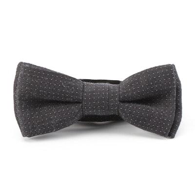 Hugo Boss Dotted Bow Tie in Silk Wool Blend