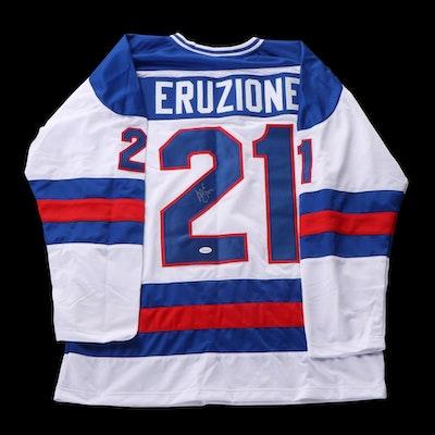 Mike Eruzione Signed Hockey Jersey, JSA COA