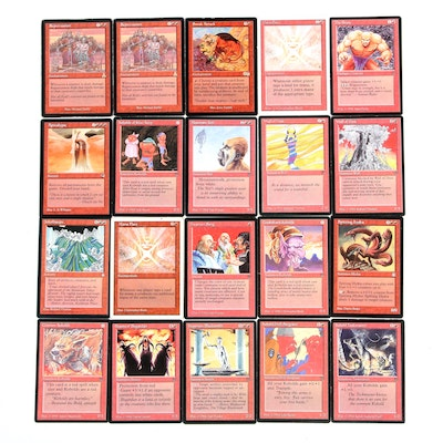"""""""Magic: The Gathering"""" Red Cards Including """"Sneak Attack,"""" 1990s"""