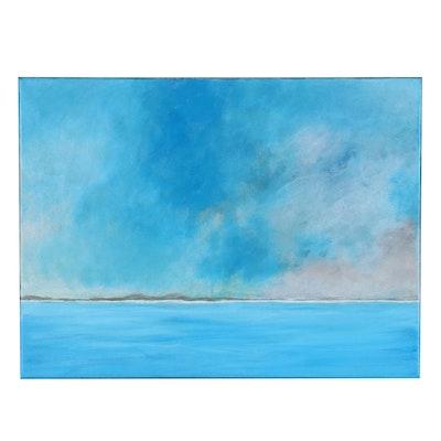 "Neville Shenton Acrylic Painting ""Lost Island,"" 21st Century"