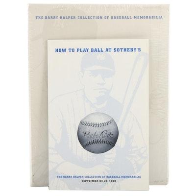 "Sotheby's ""The Barry Halper Collection of Baseball Memorabilia"" Auction Catalog"