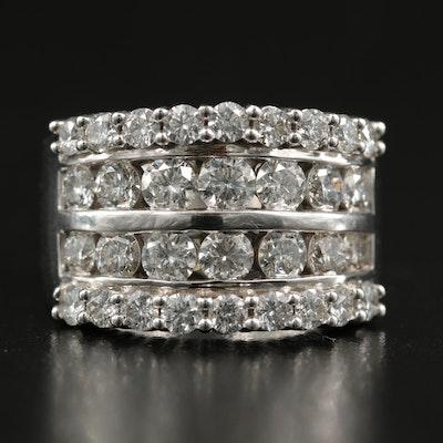 14K 3.00 CTW Diamond Multi-Row Ring