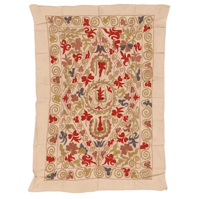Handmade Central Asian Embroidered Suzani Wall Hanging