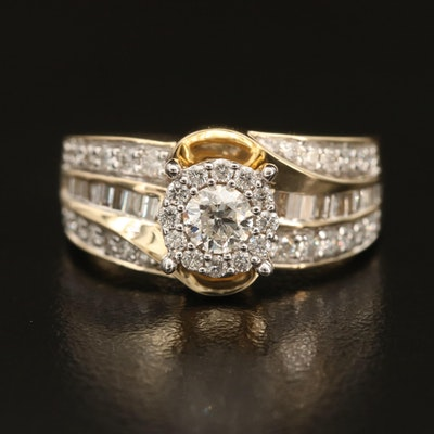 14K 1.15 CTW Diamond Ring
