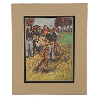 Golf-Themed Offset Lithograph After Bill Brauer