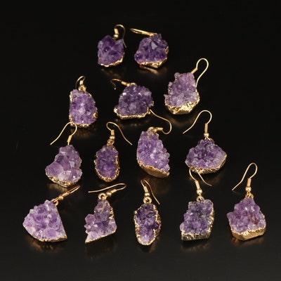 Amethyst Geode Earrings