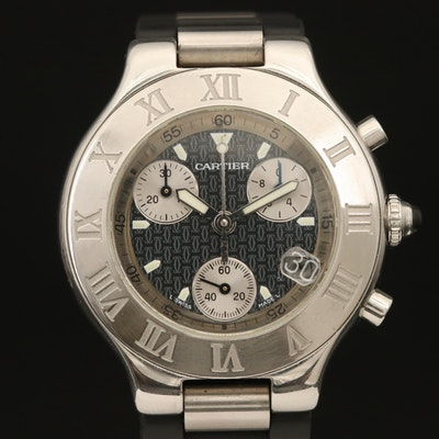 Cartier Chronoscaph 21 Chronograph Wristwatch