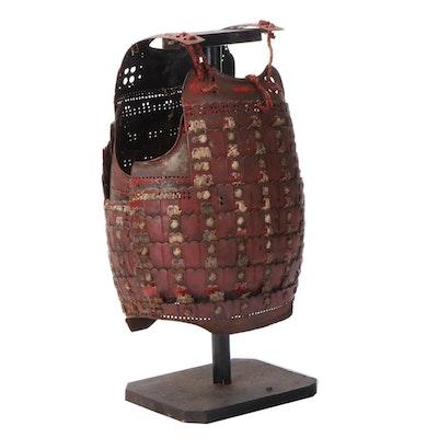 Japanese Samurai Nuinobe Dō Lacquered Iron Cuirass Armor, Edo Period