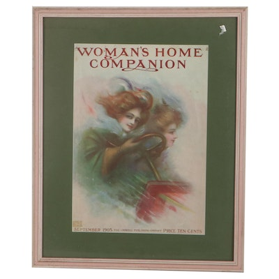 """Offset Lithograph Cover for """"Woman's Home Companion,"""" 1905"""