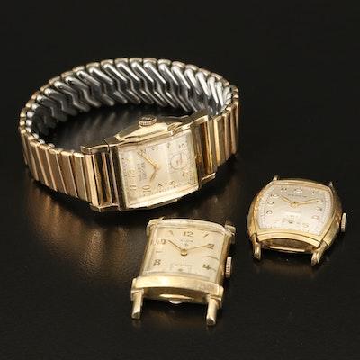 Elgin, Gruen and Rensie Stem Wind Wristwatch
