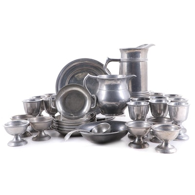 """Wilton Armetale """"Plough Tavern""""  Other Pewter Tableware, Late 20th Century"""