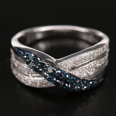 Sterling 0.50 CTW Diamond Crossover Ring
