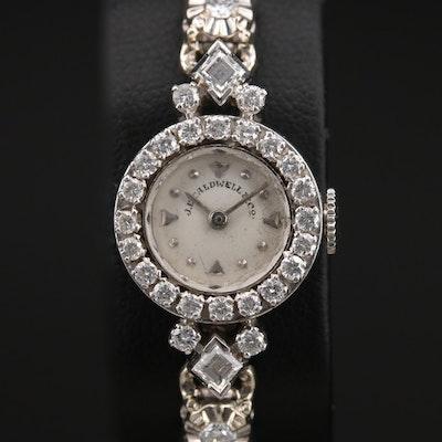 Platinum and 14K J.E. Caldwell & Co. 1.00 CTW Diamond Wristwatch