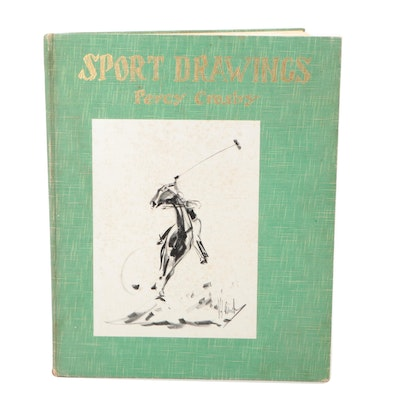 """Illustrated """"Sports Drawings"""" by Percy Crosby, 1933"""