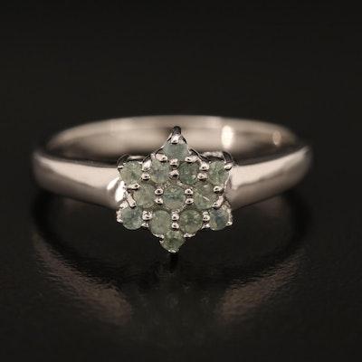 Sterling Alexandrite Star Ring